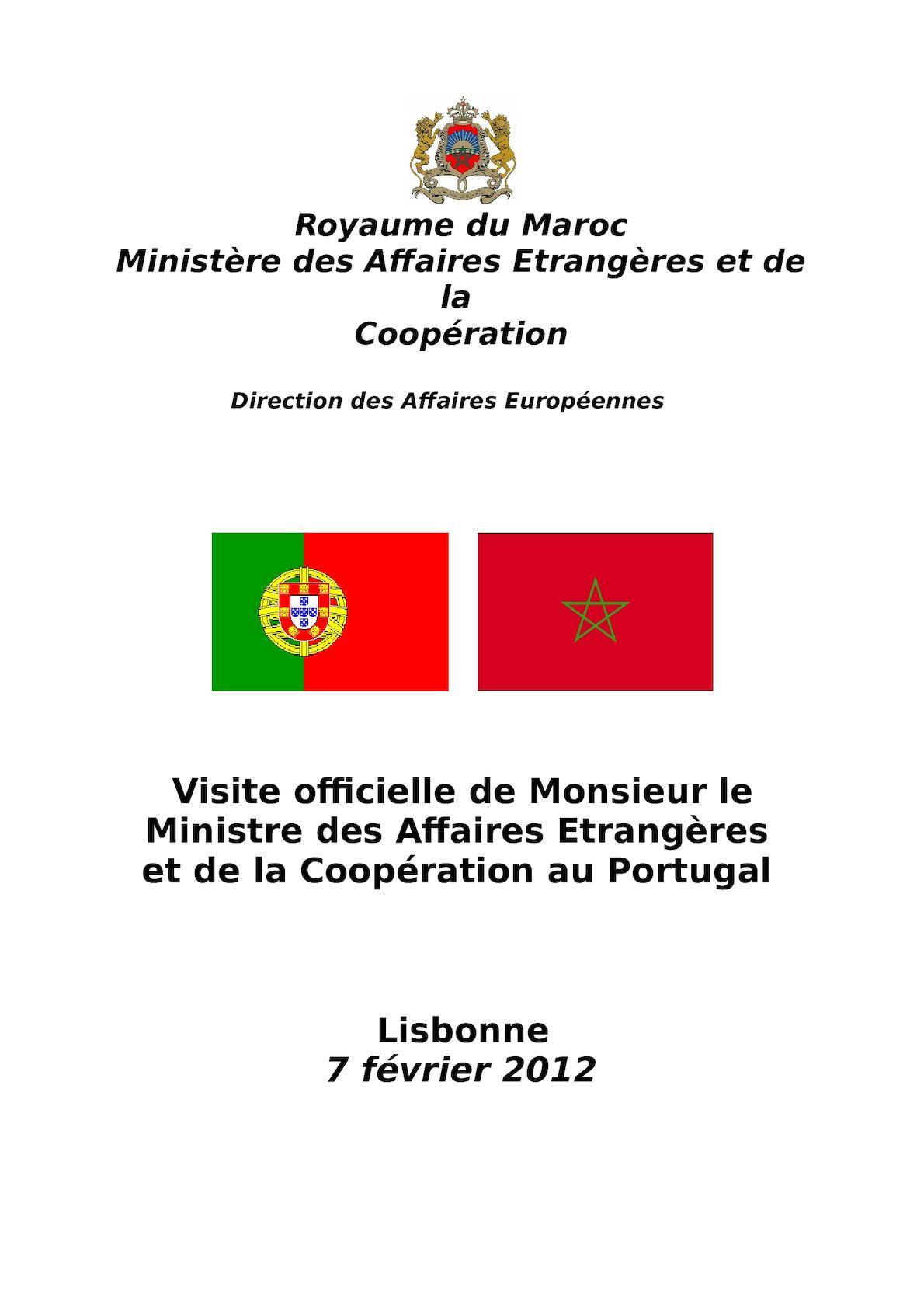 Dossier Visite Ministre Portugal