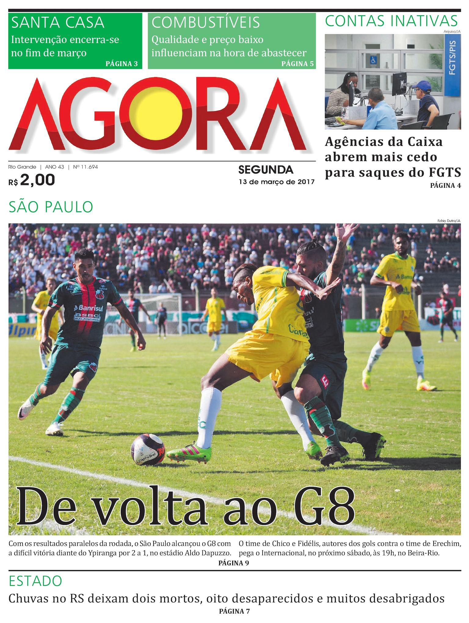 Jornal Agora - Edição 11694 - 13 de Março de 2017