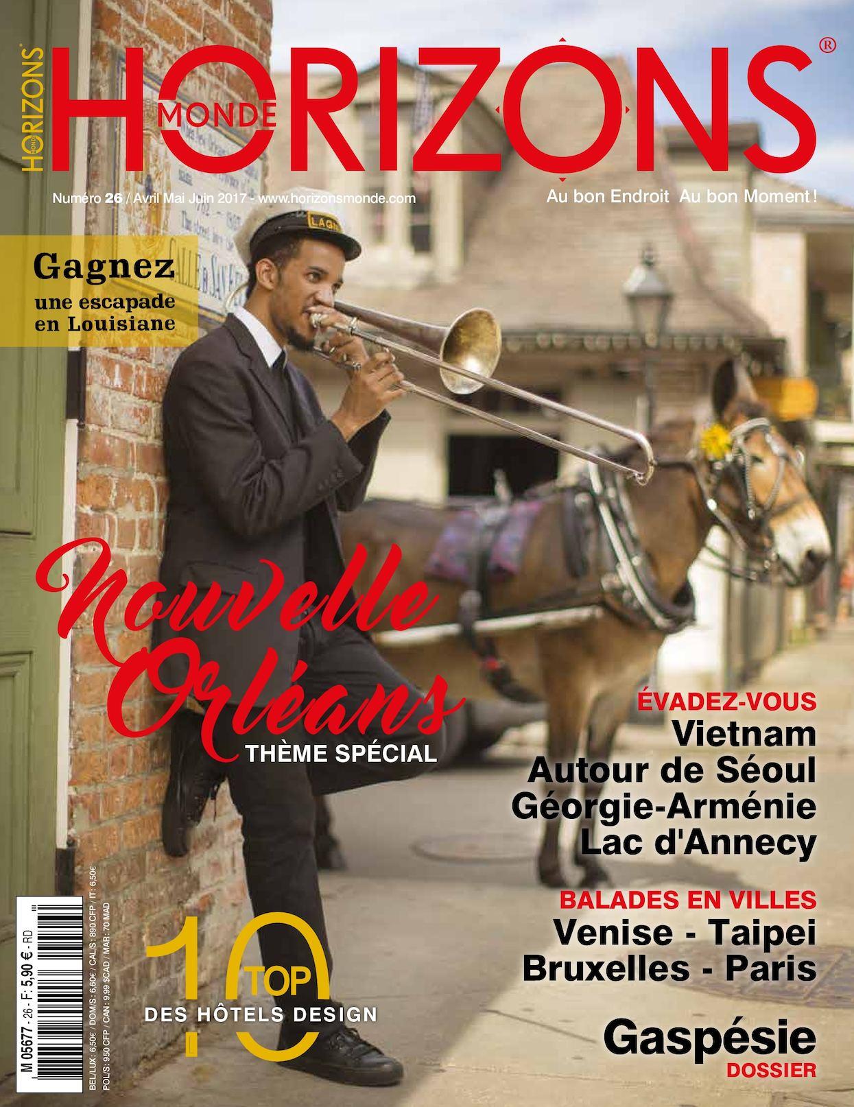 Magazine Presse Horizons Monde Trimestriel Voyages Tourisme Printemps 2017