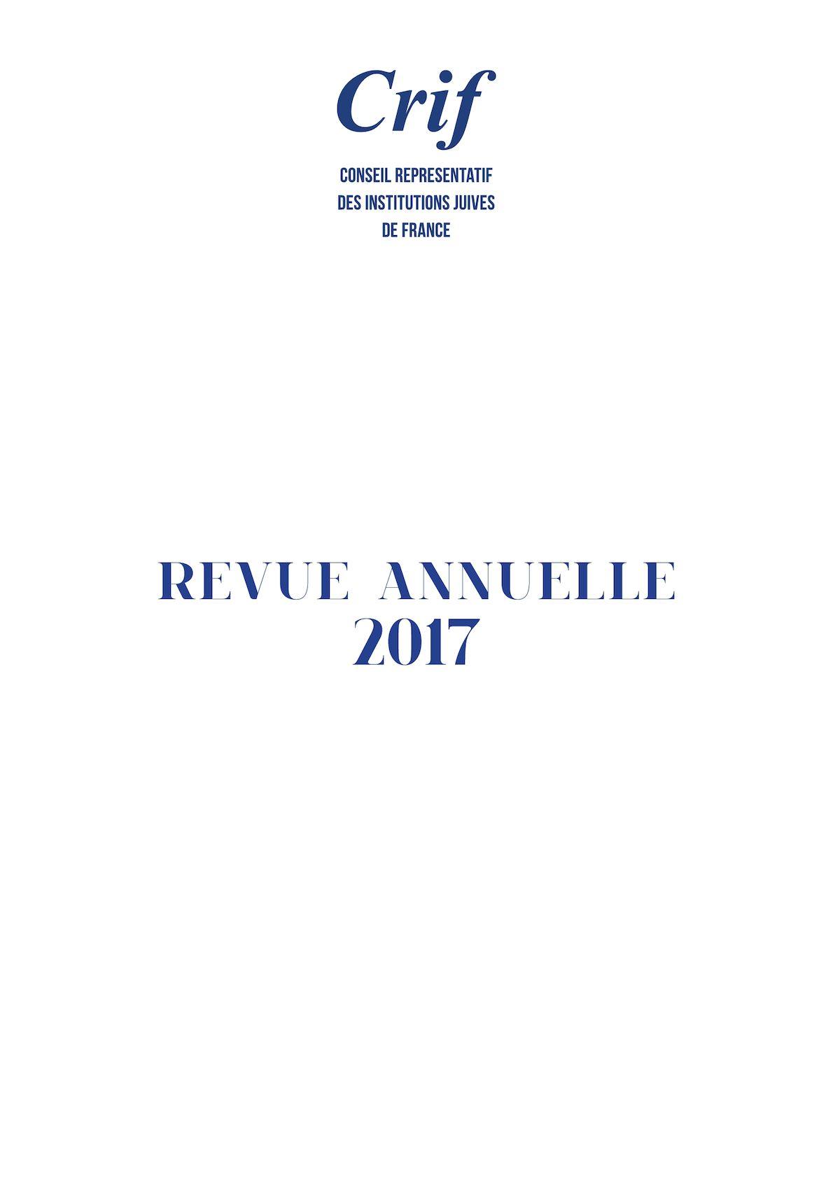 Revue annuelle du Crif 2017