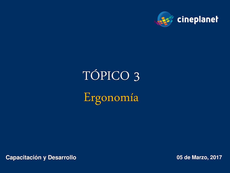 Tópico 3 Ergonomía