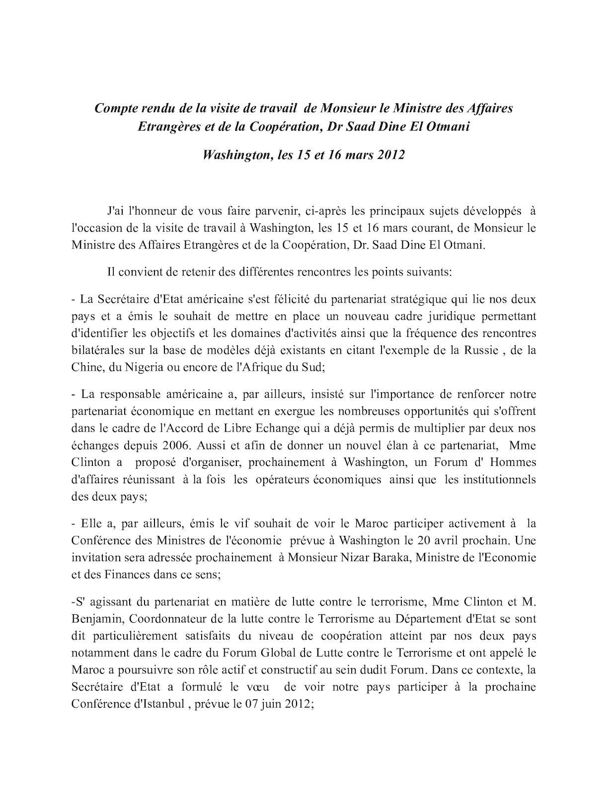 Compte Rendu Visite De Monsieur Le Ministre Washington(1)
