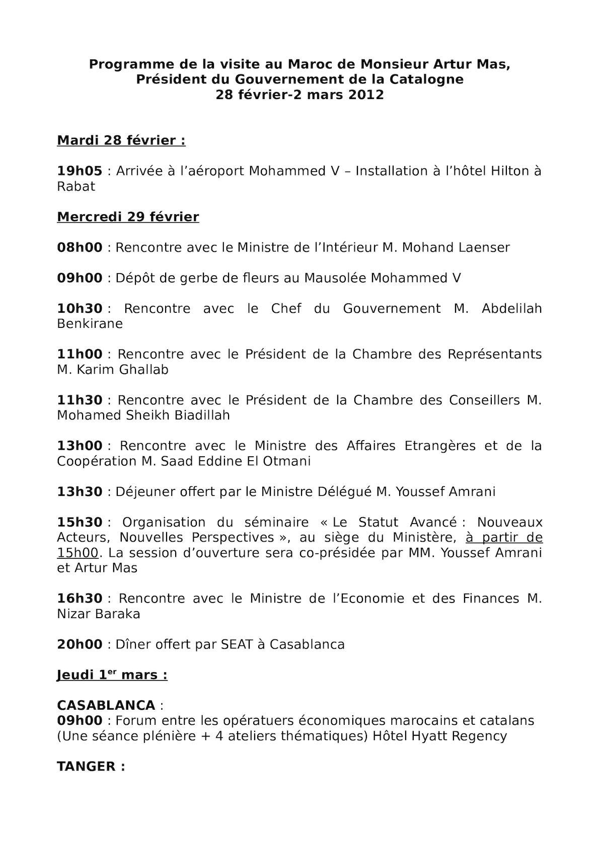 Programme Visite  Artur Mas(1).