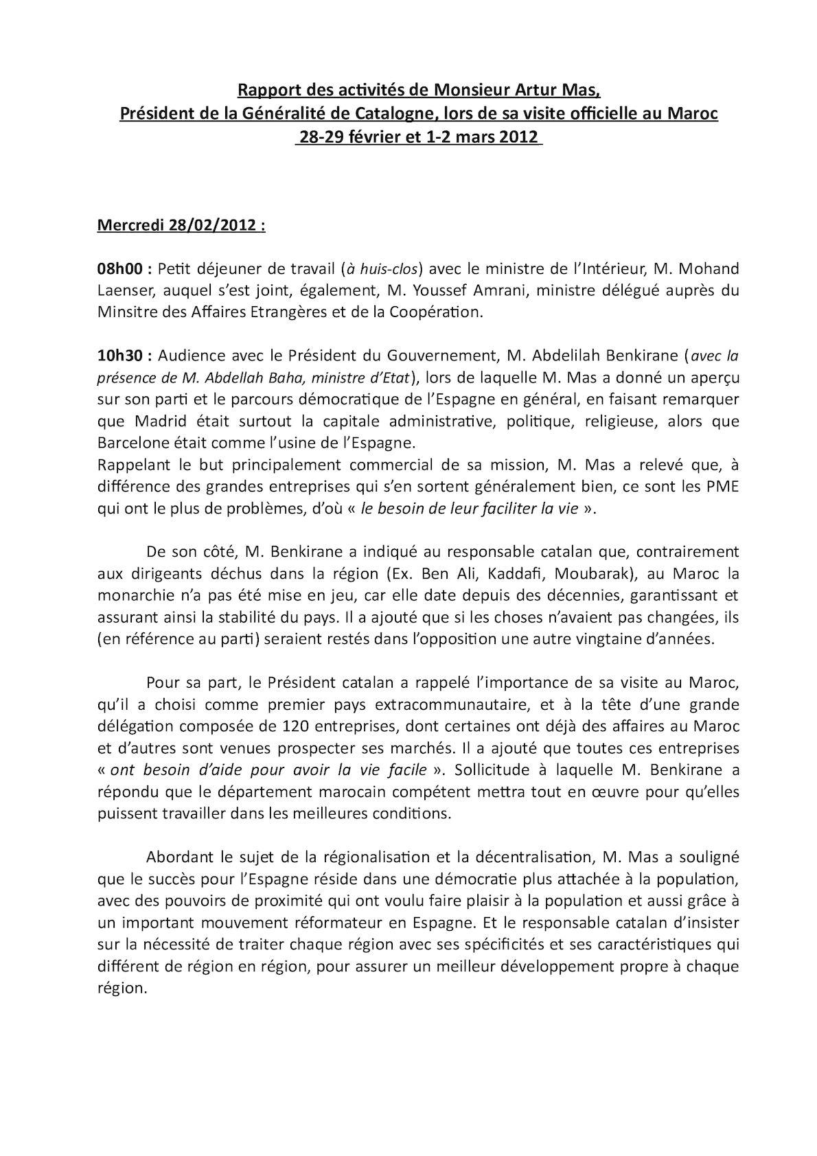 Rapport Final Visite Artur Mas