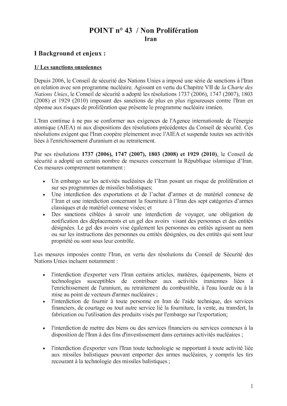Fiche Non Prolifération Iran Pt 43 VE (2).