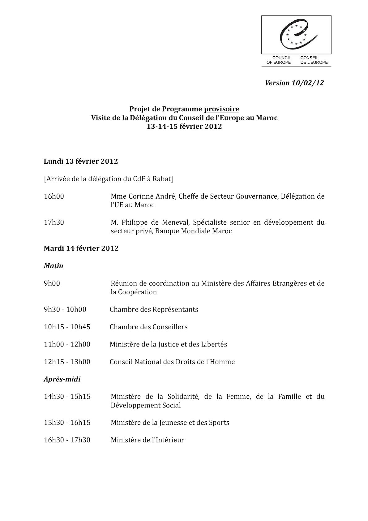 Projet De Programme- 14 15 Février 2012