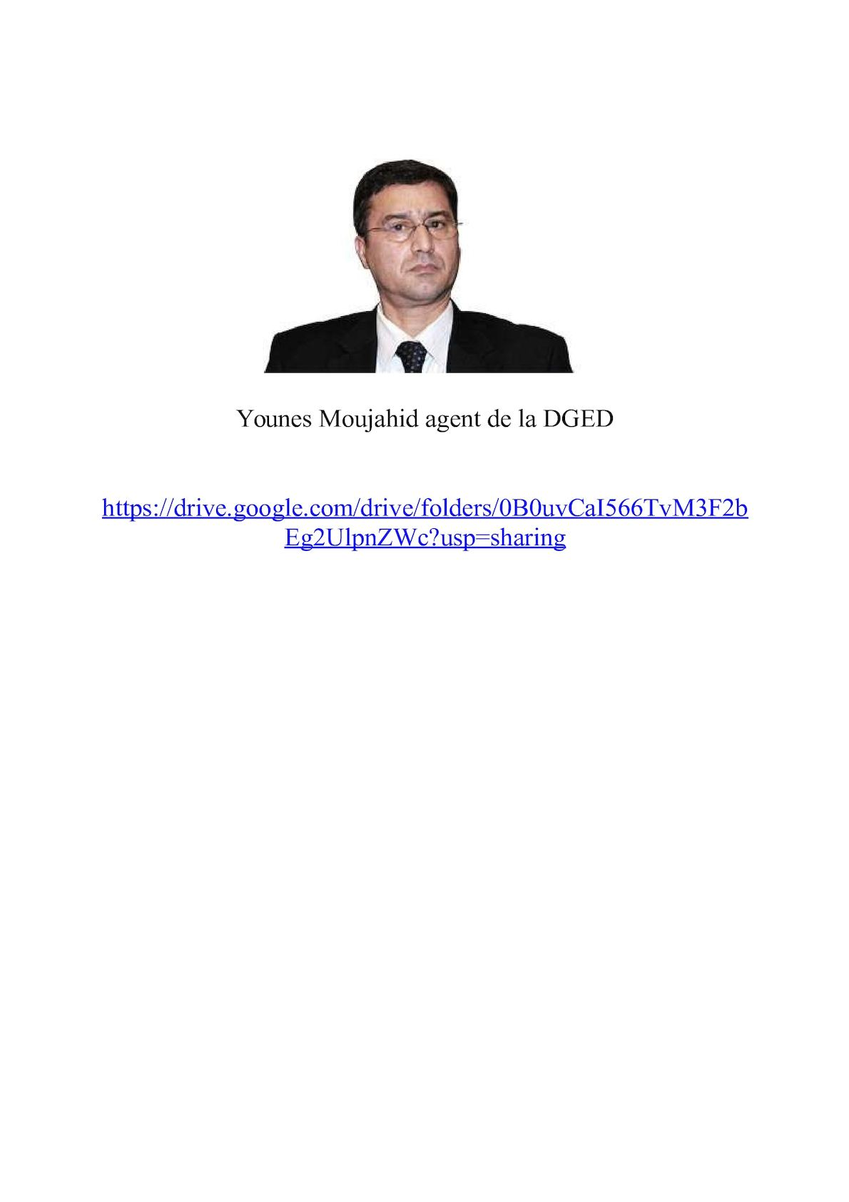 Younes Moujahid Agent De La Dged