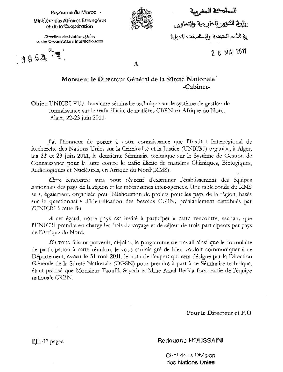 1851 Sûreté National