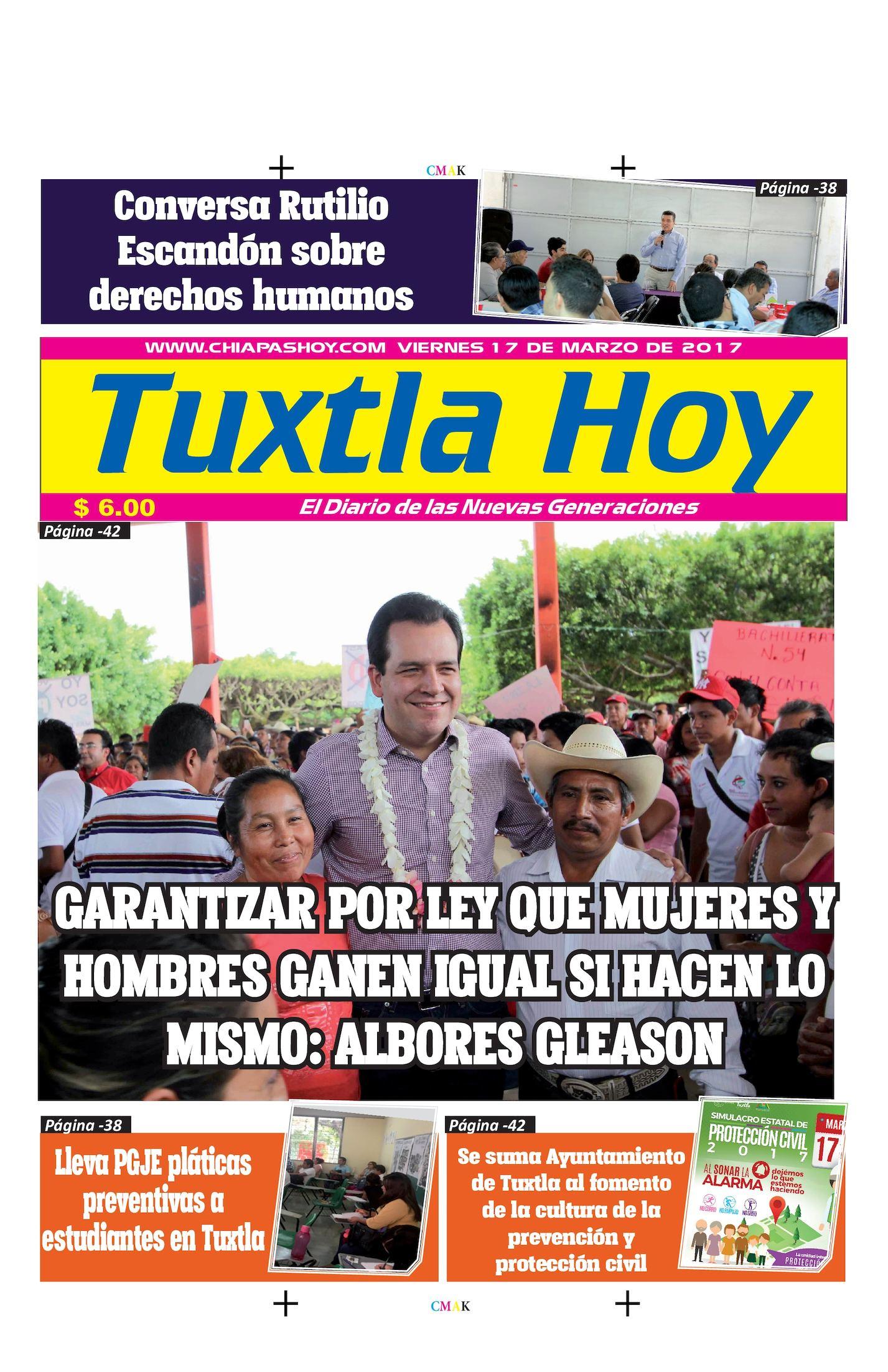 Tuxtla Hoy Viernes 17 de Marzo