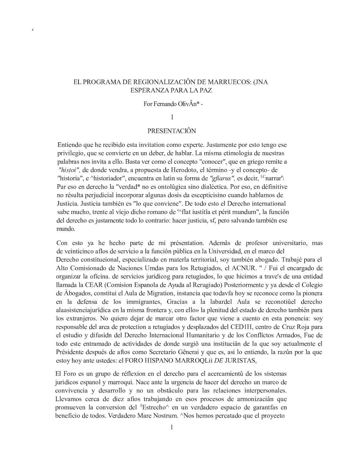 Programme De Régionalisation