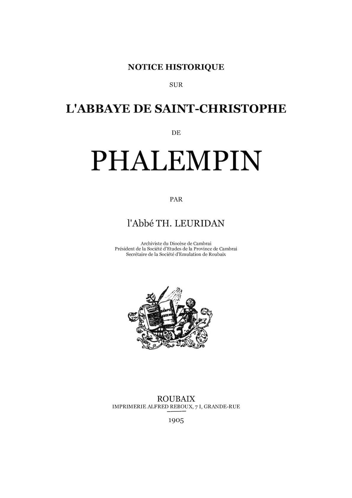 Histoire de l'abbaye de Phalempin