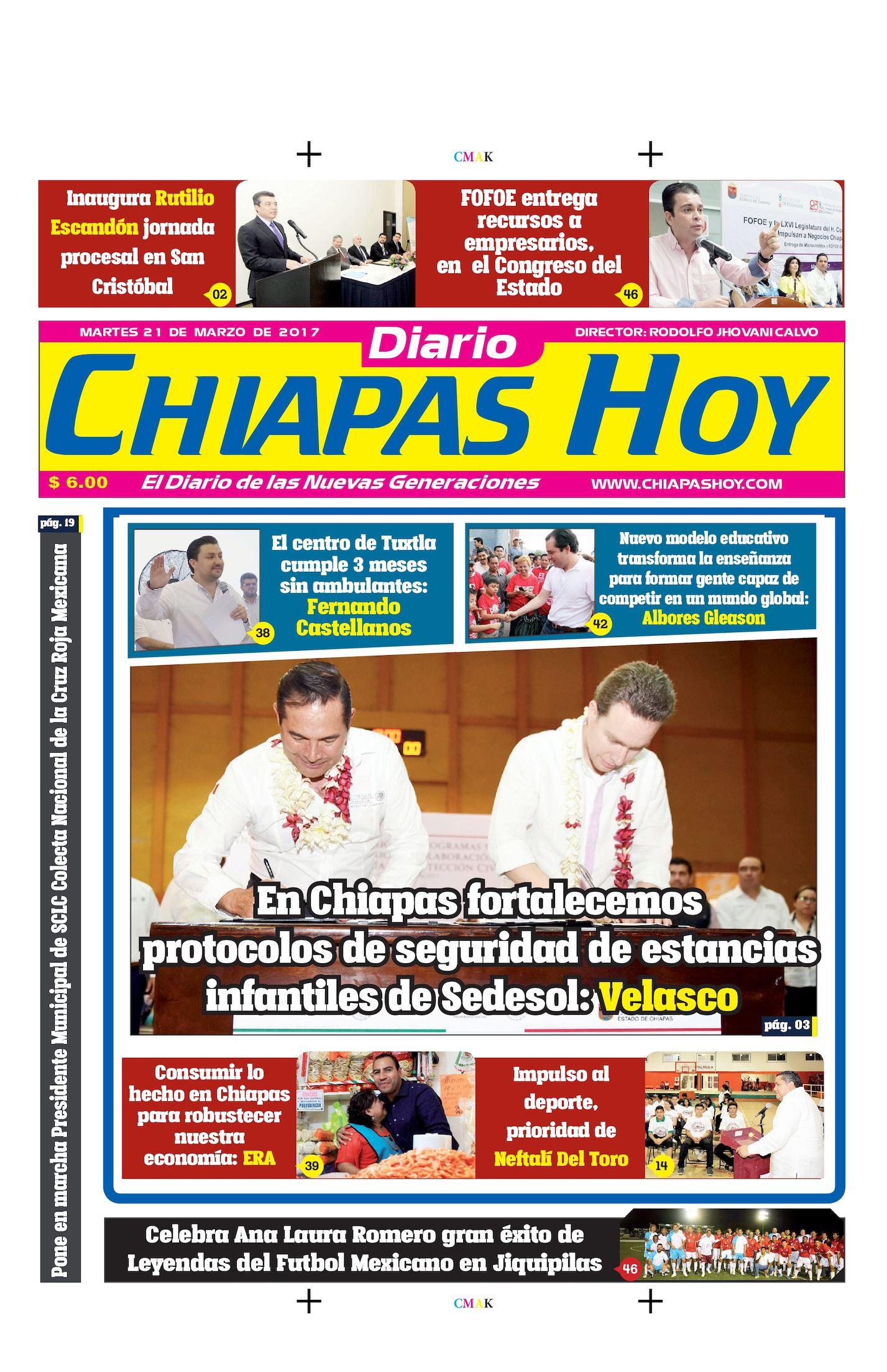 Chiapas Hoy 21 De Marzo
