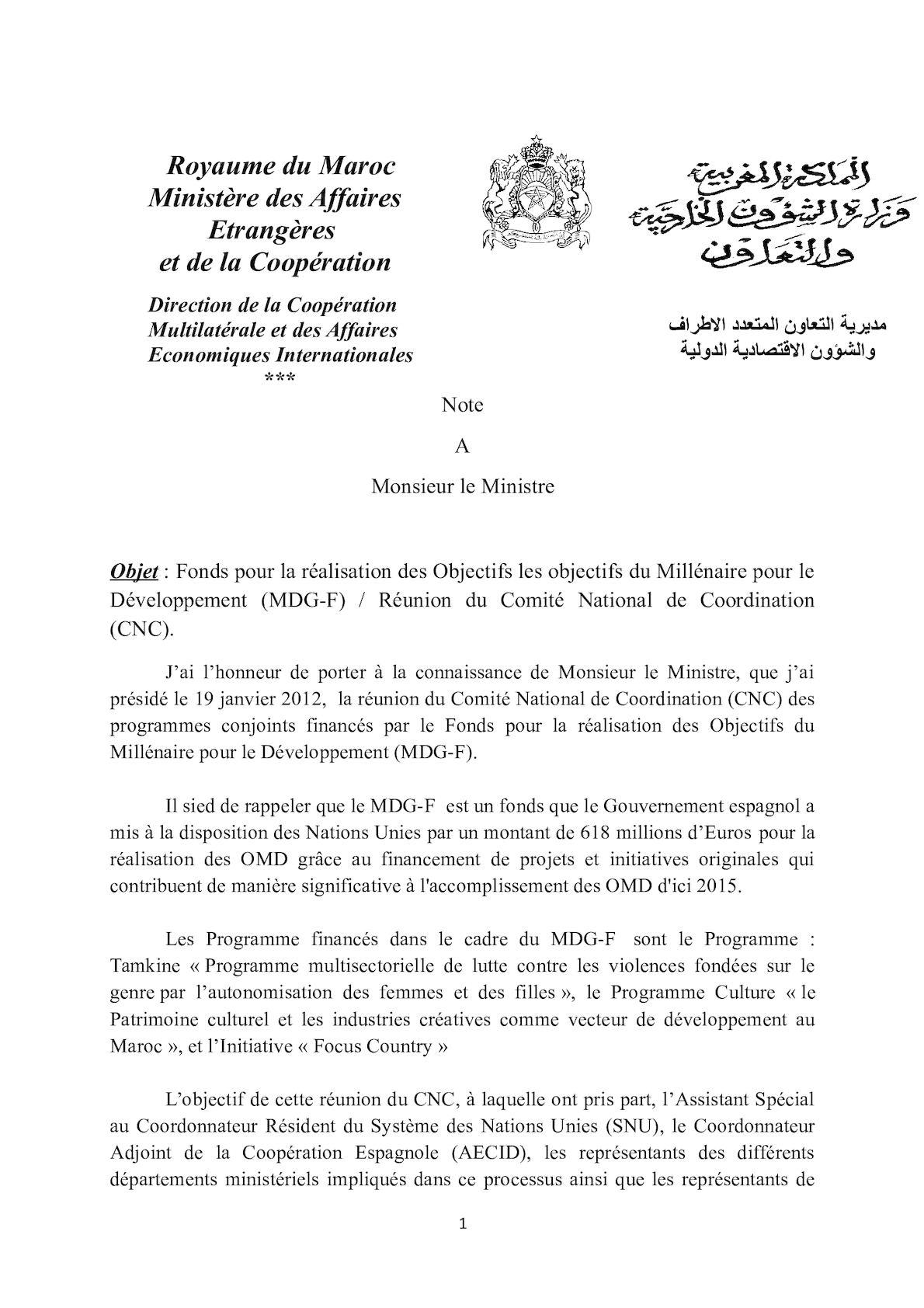 CNC. Note à M. Le Minitre (réunion Du 19 Janvier 2012) (2).