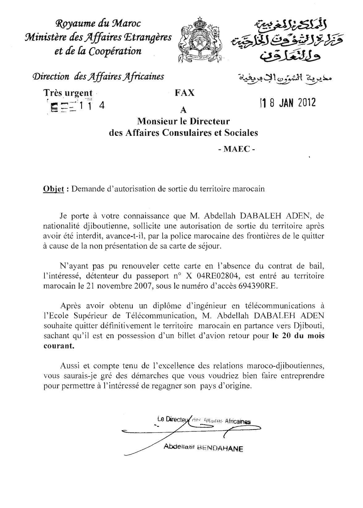 18 01 12, DACS, étudiants Djiboutien