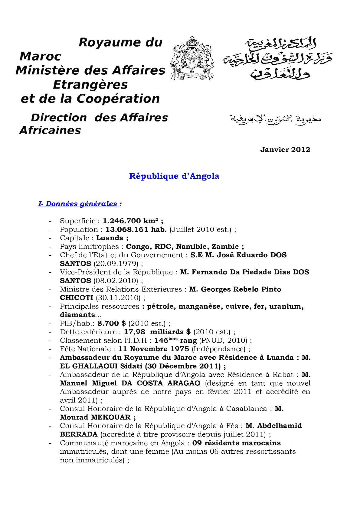 F. SUCCINCTE ANGOLA 2012