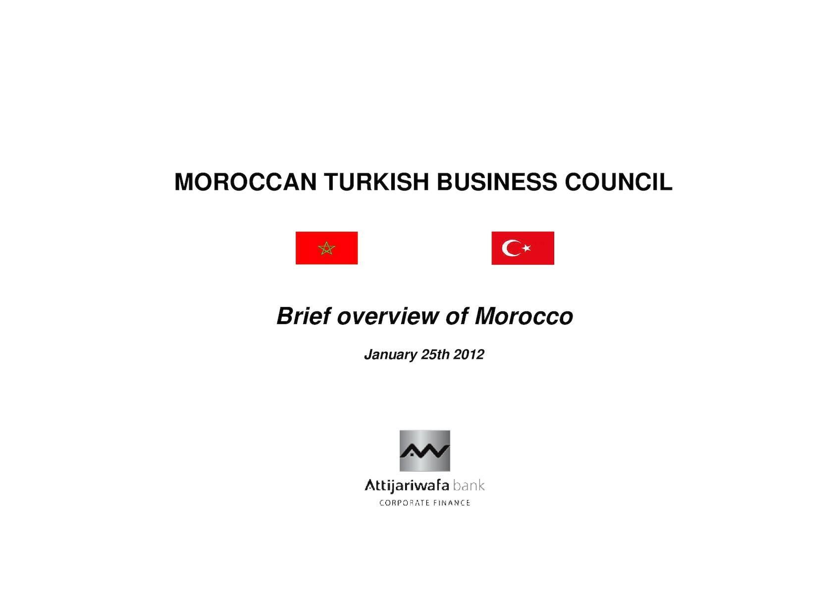 Présentation Maroc - ISTANBUL 25 01 12 - Version Finale