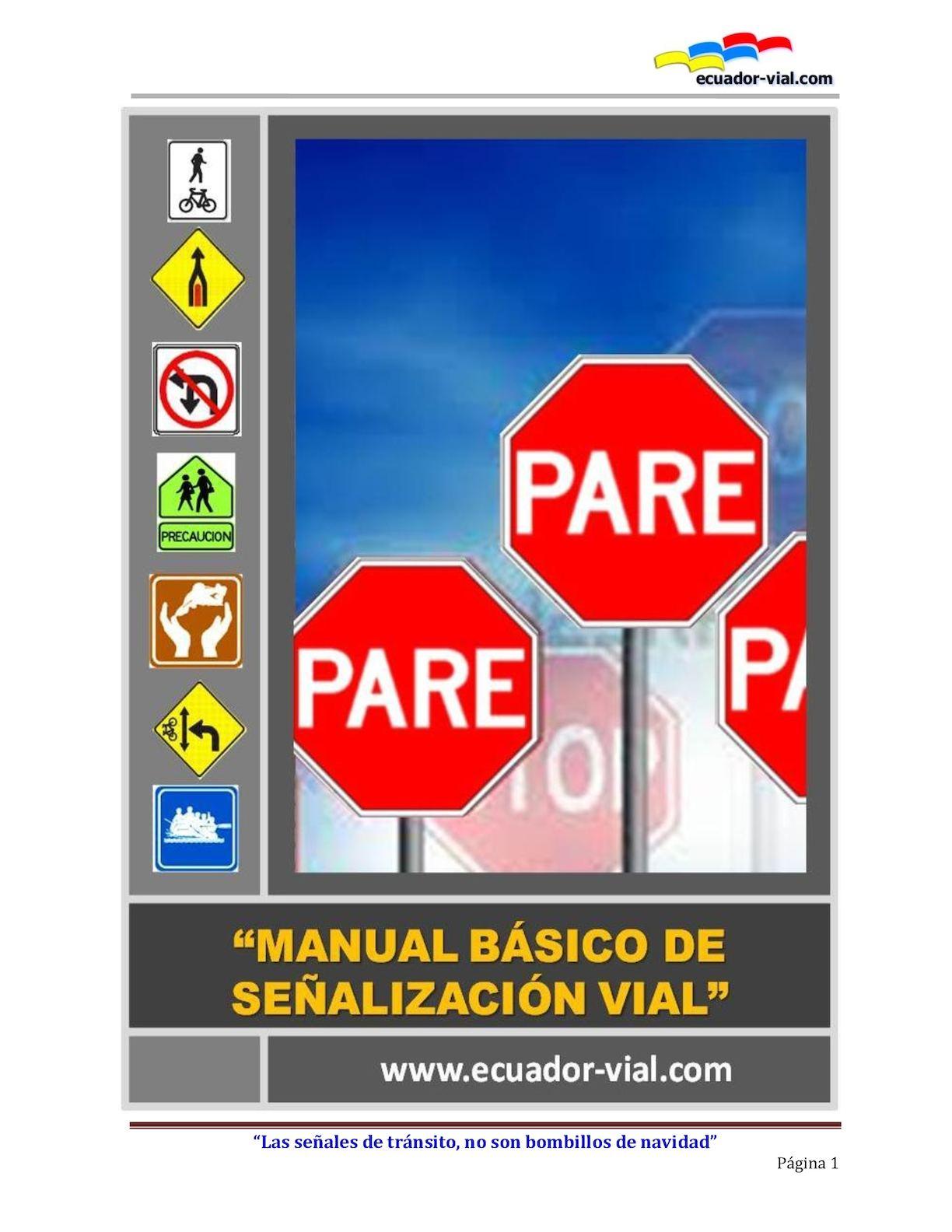 Calaméo - Manual Señales Transito Ecuador
