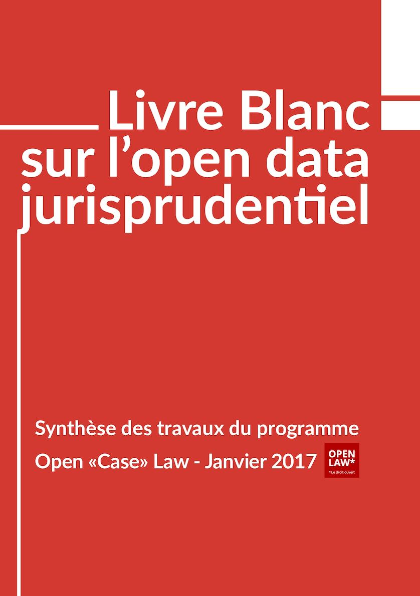 Livre Blanc Open Data Jurisprudentiel
