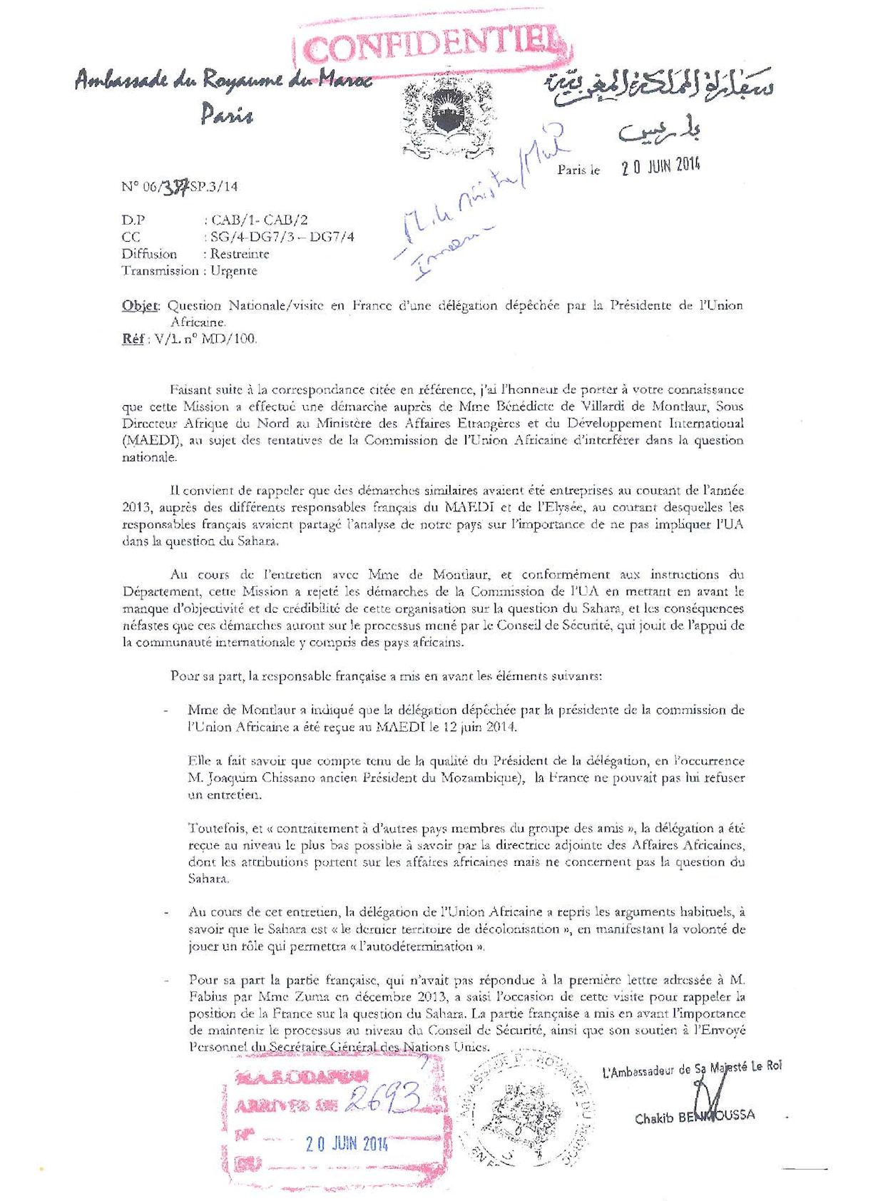 Question Nationale Visite En France D'une Délégation Dépêchée Par La Présidente De L'ua