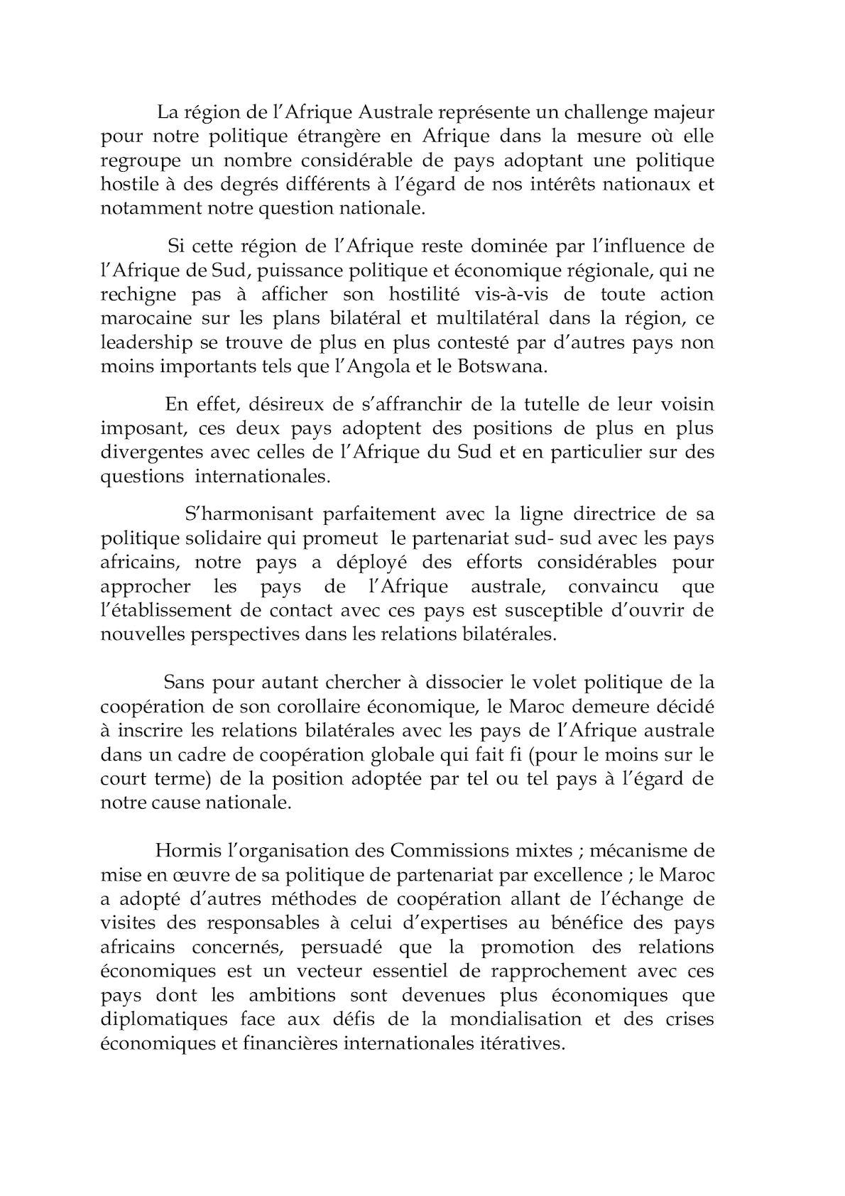 Conribution àl'intervention Sur L'action Du Maroc En Afrique Seminaire