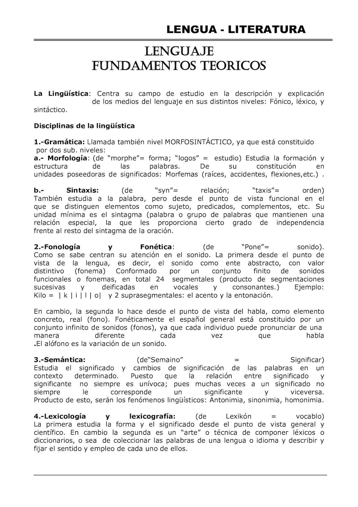 Calaméo - 0 Lenguaje Y Literatura Teoria Completa