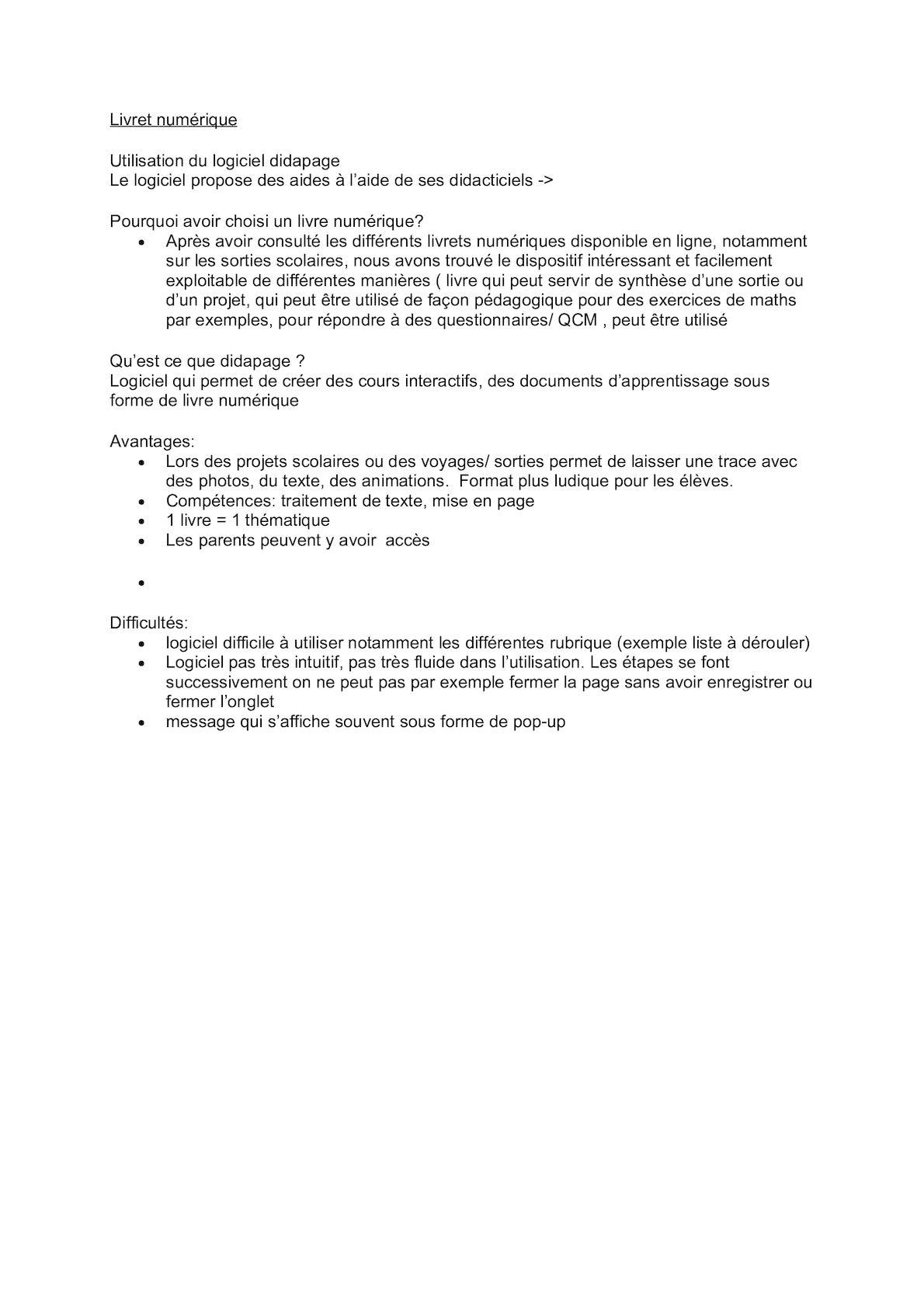 Evaluation de la séquence