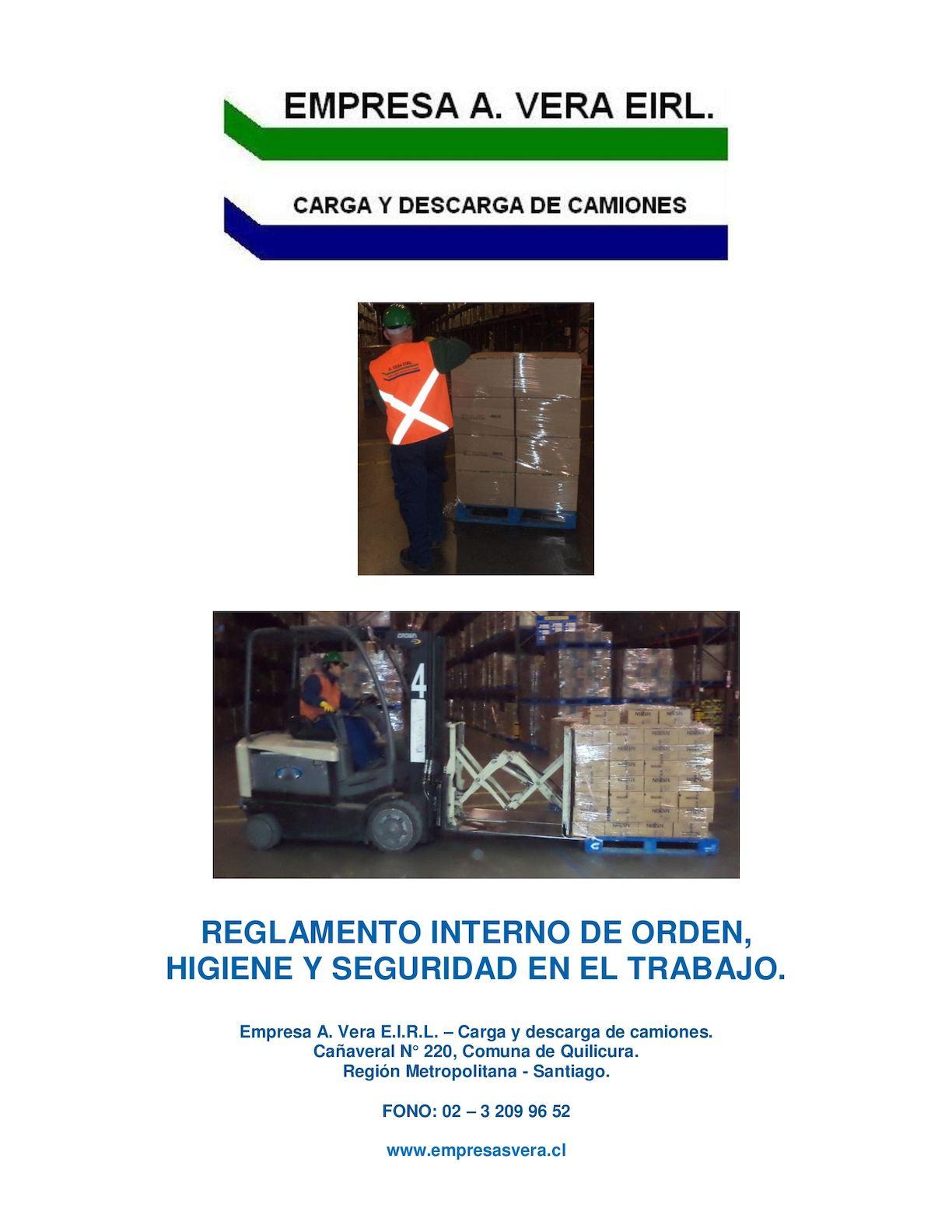 Calaméo - Reglamento Interno A. Vera E. I. R. L. 2017