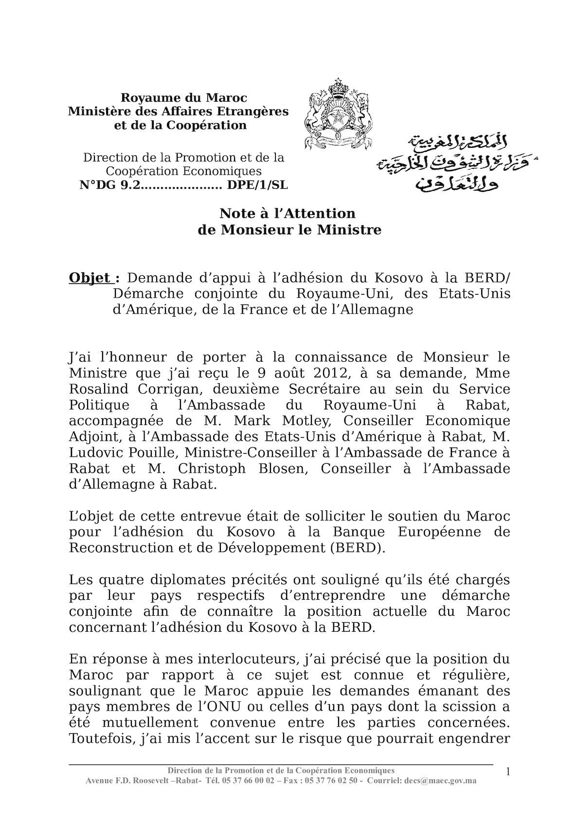 CR Entretien UK France USA GR Kosovo Berd