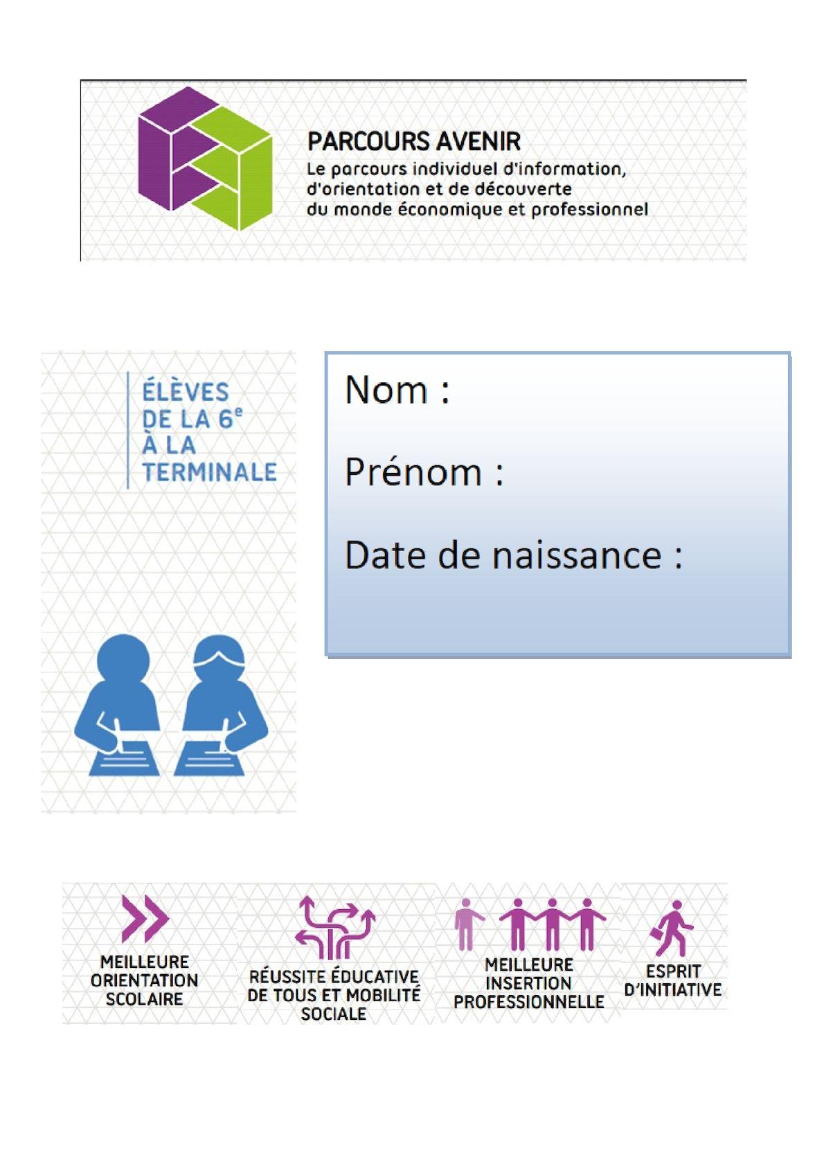 Dossier Parcours Avenir Pour Oral Dnb Version2