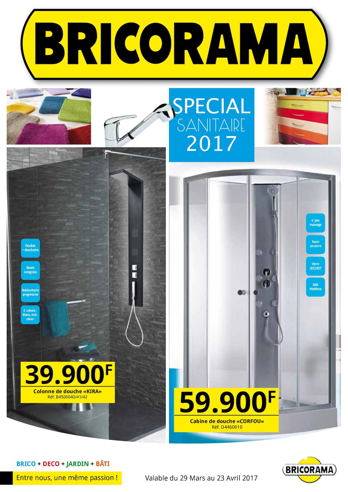 Calam o catalogue special sanitaire 2017 bricorama for Brico bati jardin