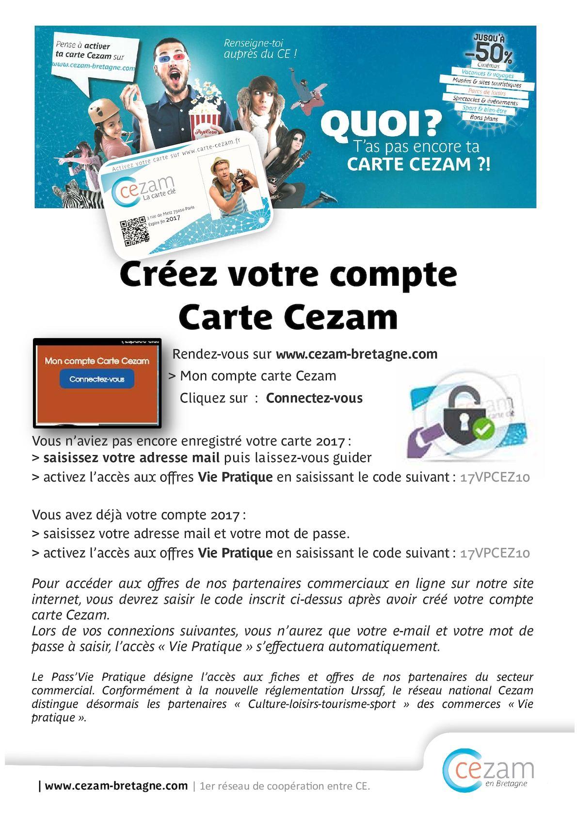 Carte Cezam Bretagne.Calameo Acces Site Carte Et Vp
