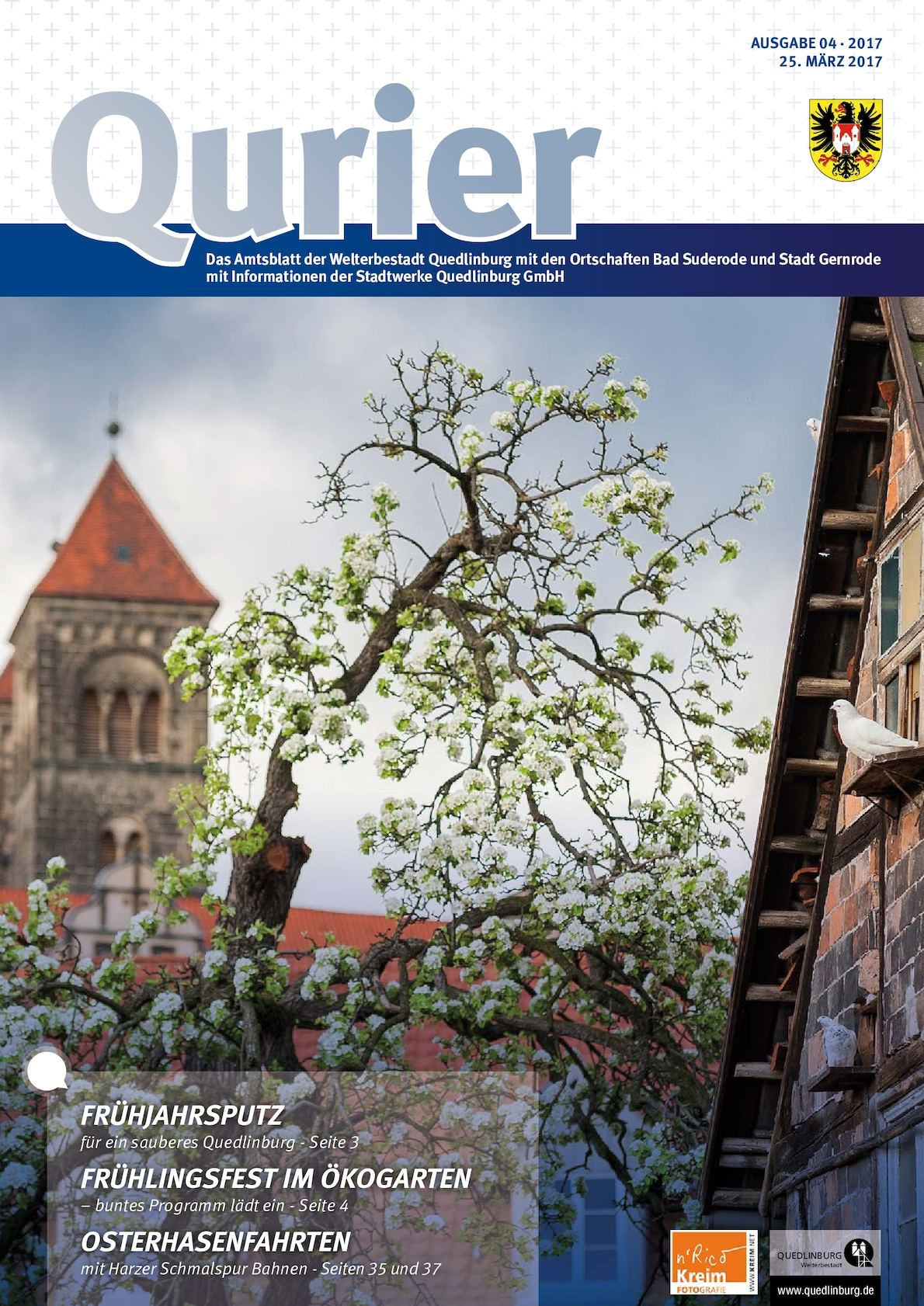 Calaméo - Qurier 04/2017 vom 25.03.2017 - Das Amtsblatt der ...