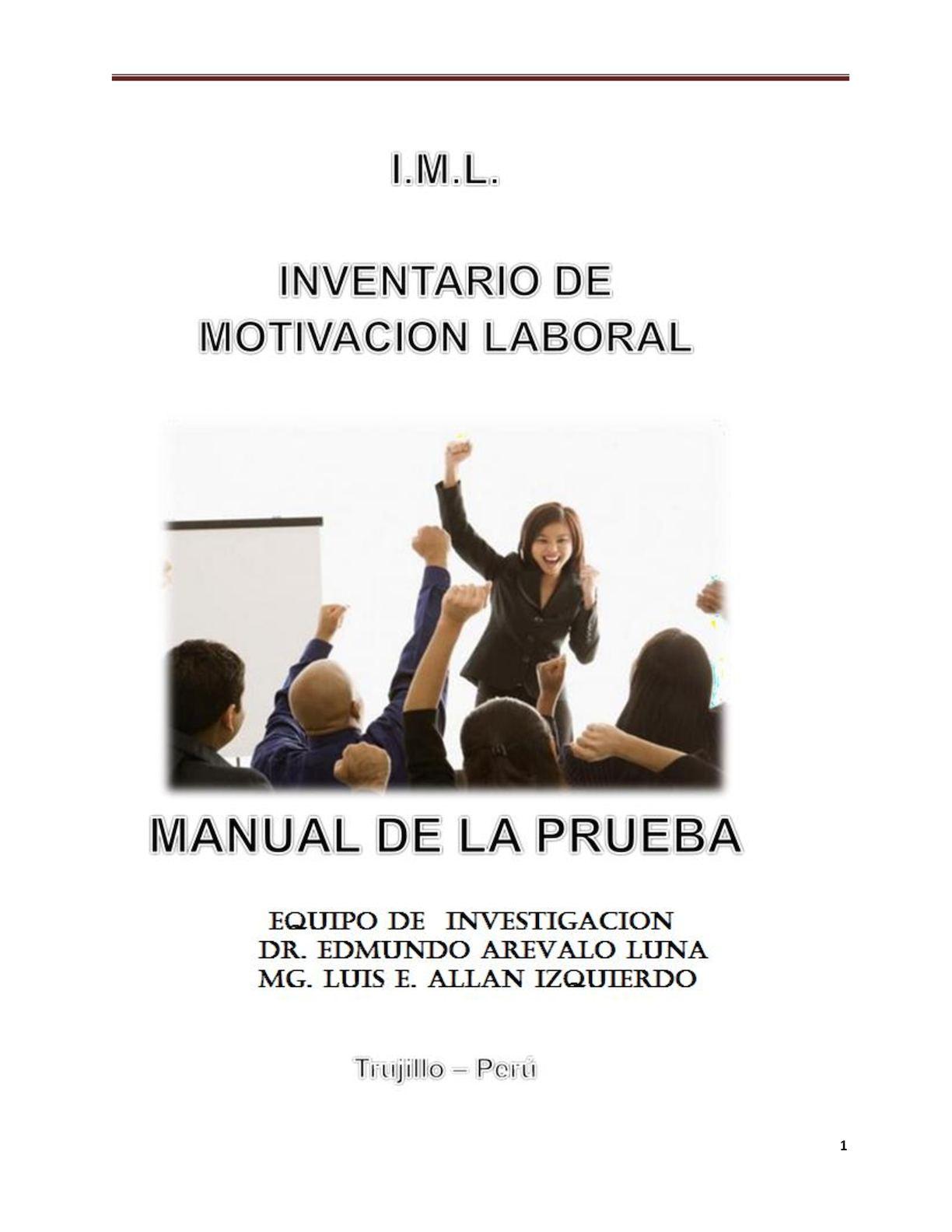 Inventario De Motivación Laboral Iml