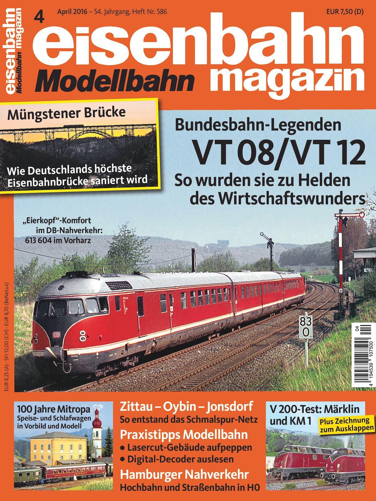 Eisenbahn Modellbahn Magazin 04 2016