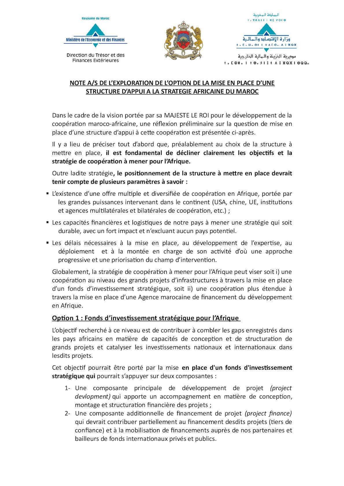 Note Structure D'appui Stratégie Afrique 30112016