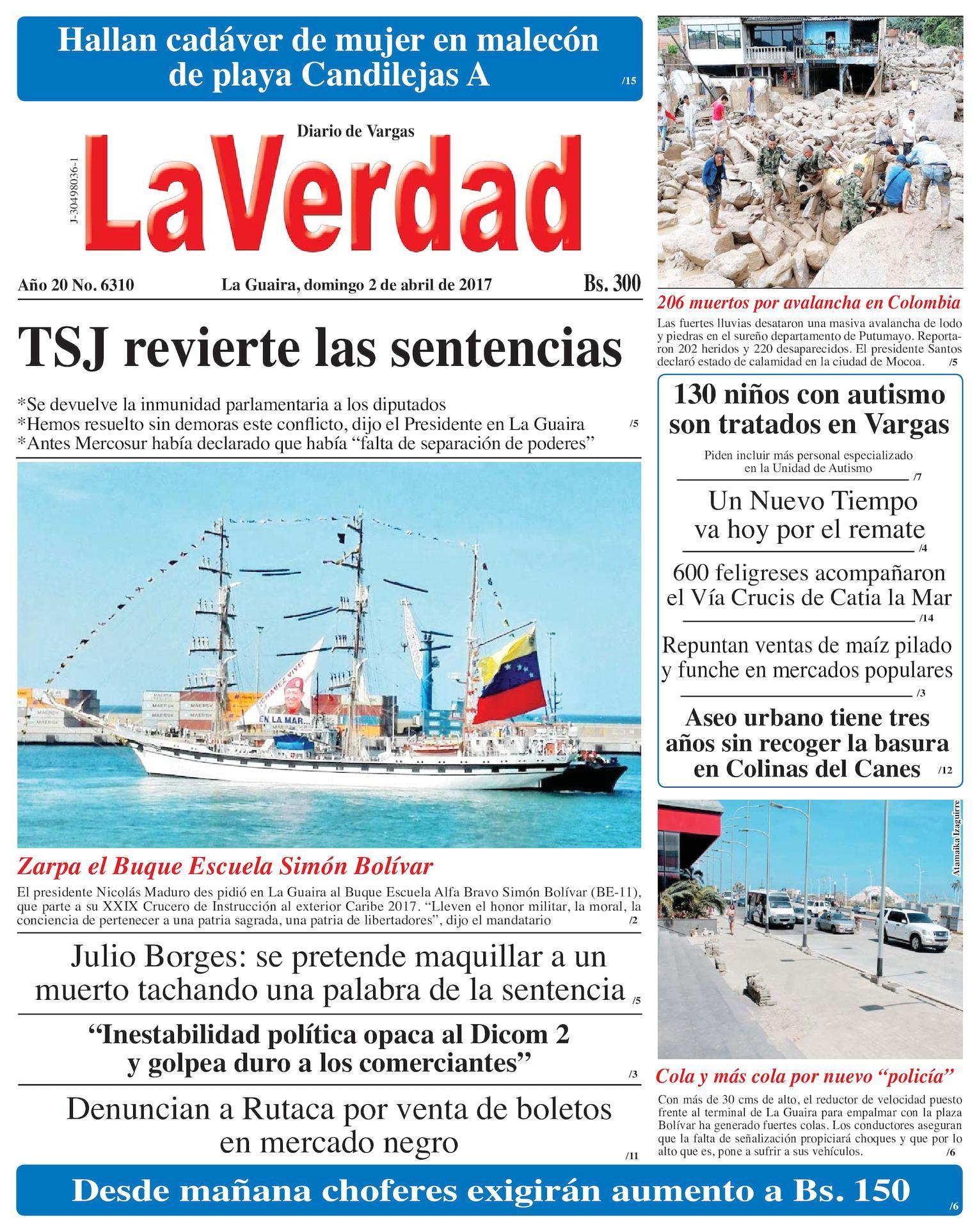 Calaméo - La Guaira, domingo 2 de abril de 2017 Año 20 No. 6310