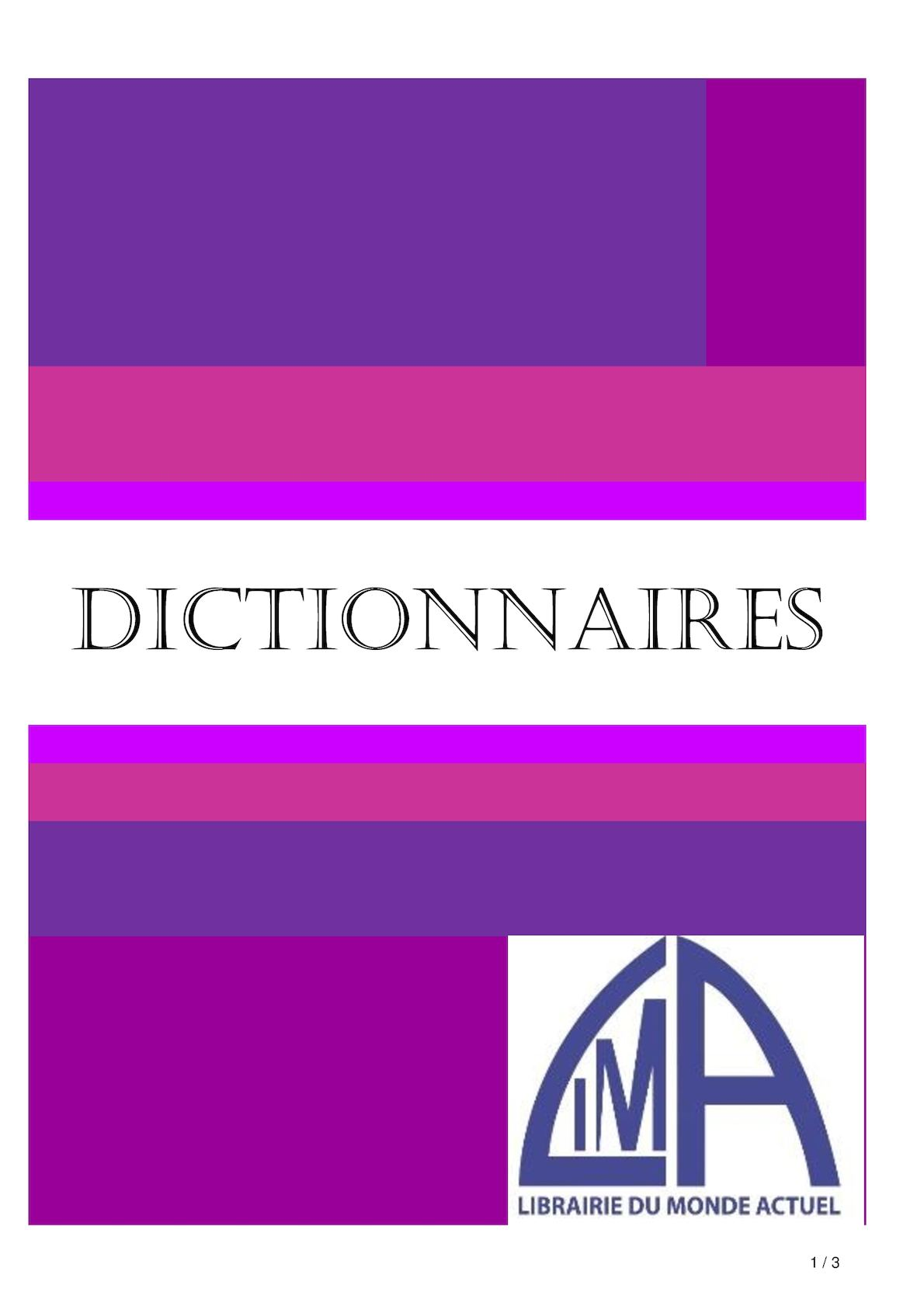 DICTIONNAIRES 2017