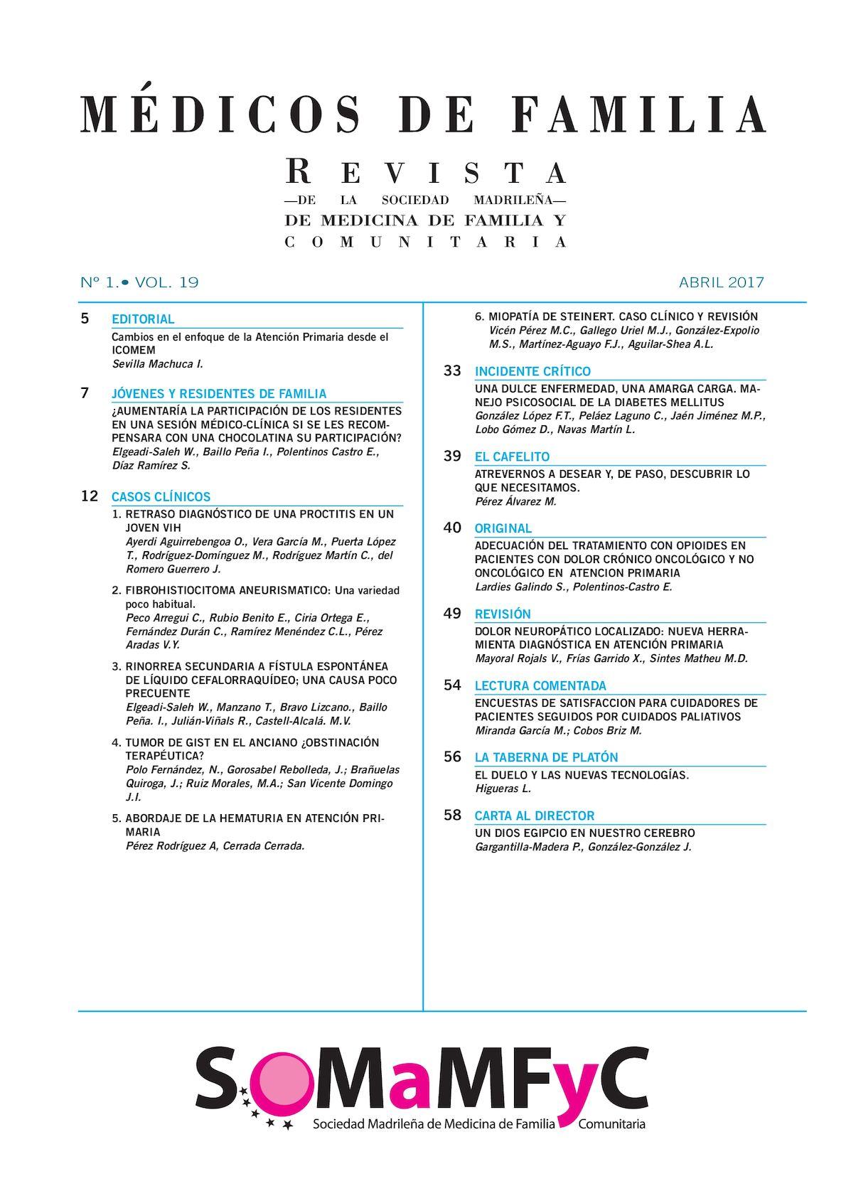 Calaméo - Médicos De Familia Vol 19 Nº 1 Abril 17