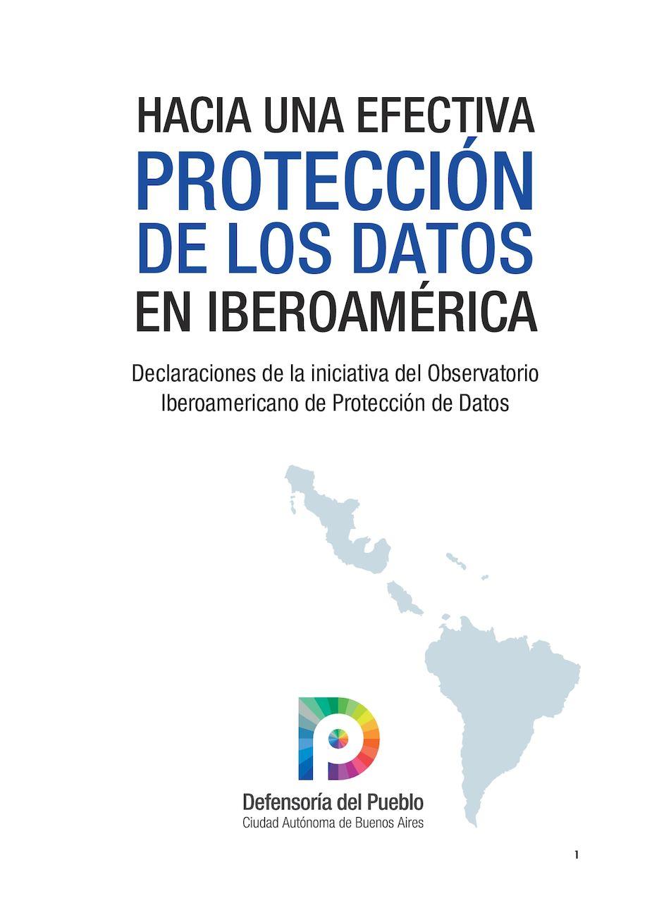 Calaméo - HACIA UNA EFECTIVA PROTECCIÓN DE LOS DATOS EN IBEROAMÉRICA