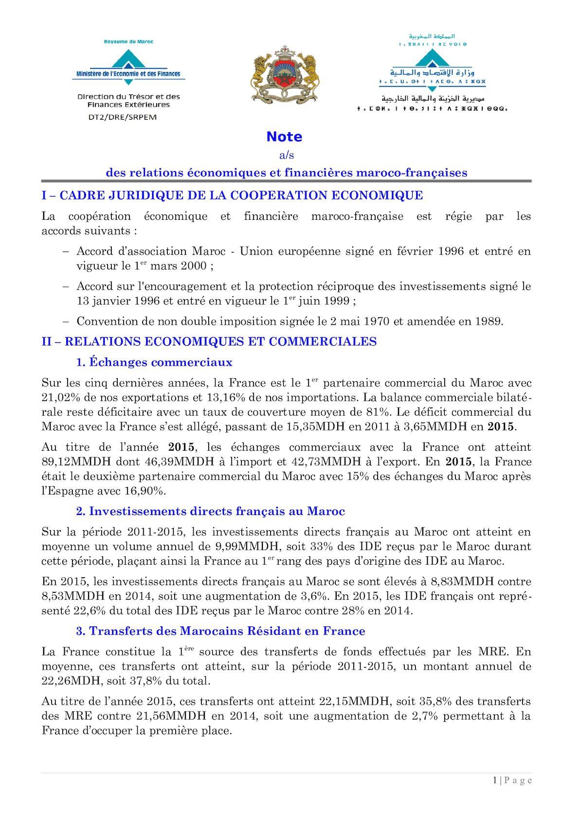 Fiche Relations France 30 Juillet 2016