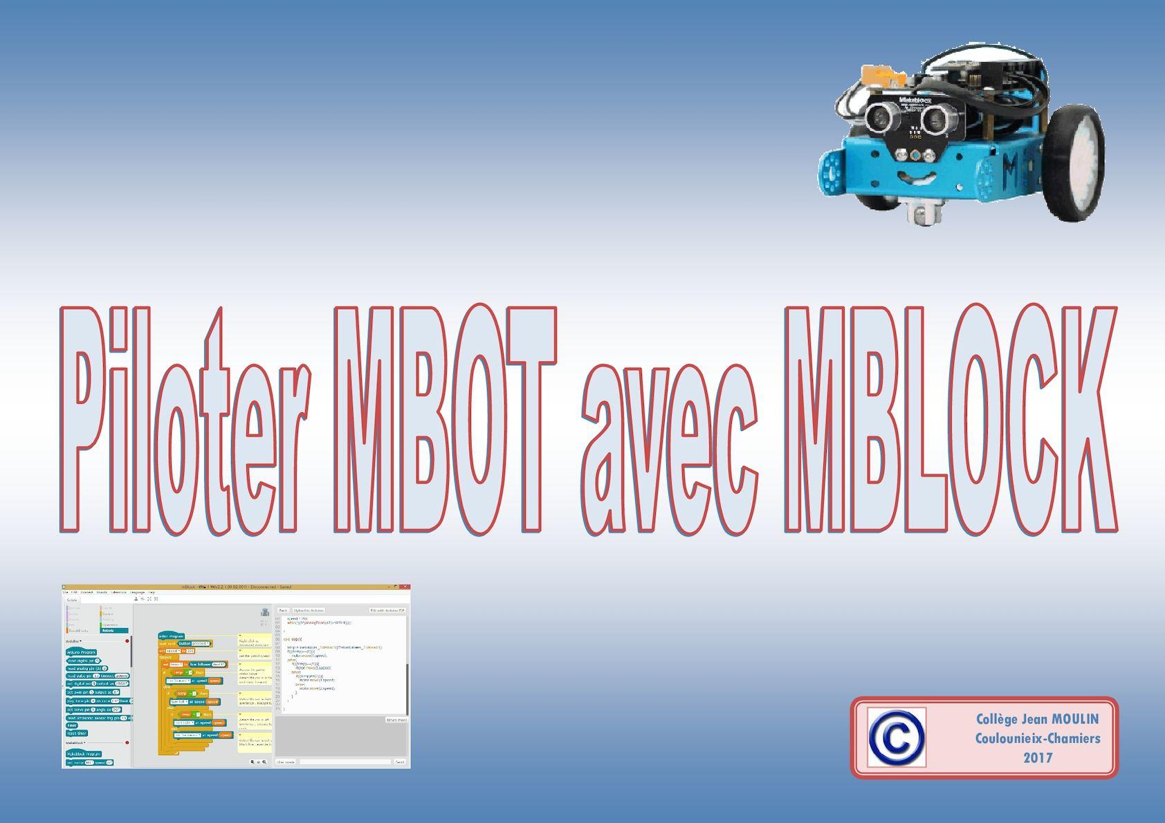 Piloter MBOT avec MBLOCK
