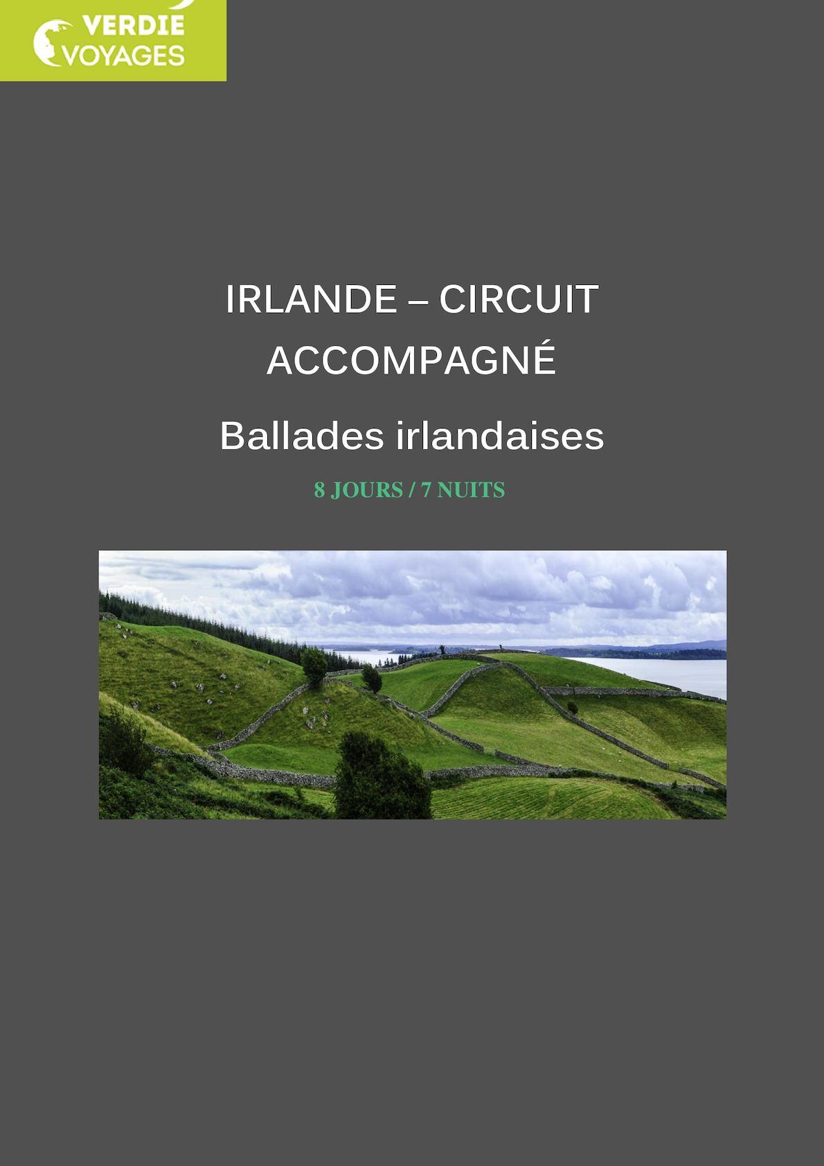 Brochure ballades irlandaises