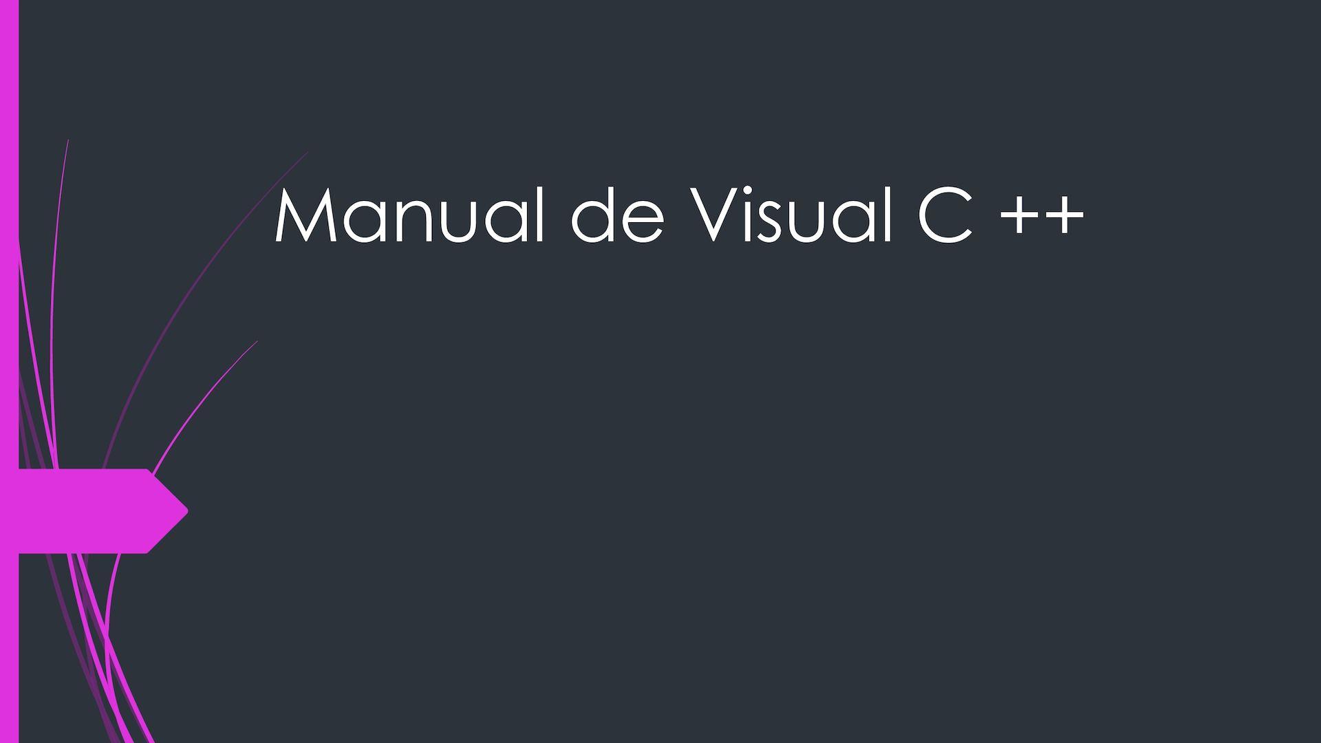 Calaméo - Manual De Visual C ++.