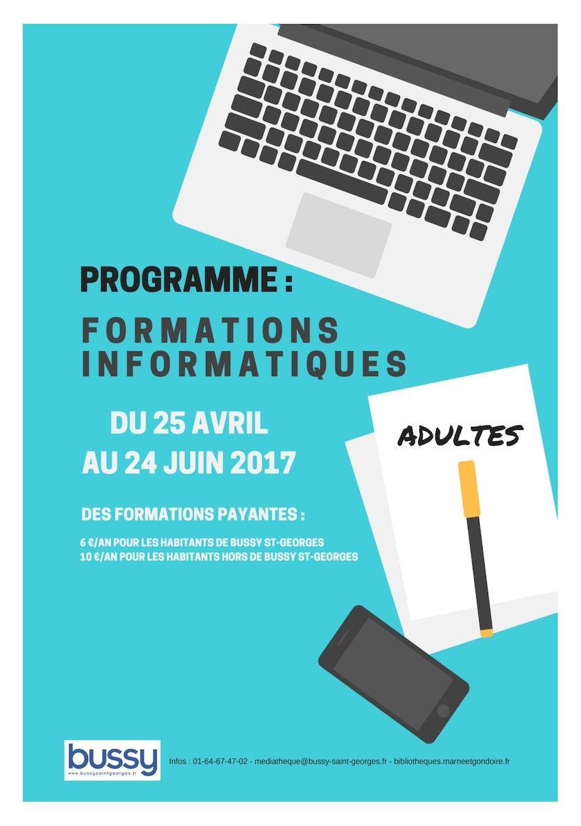 Livret des formations informatiques du 25 avril au 24 juin 2017