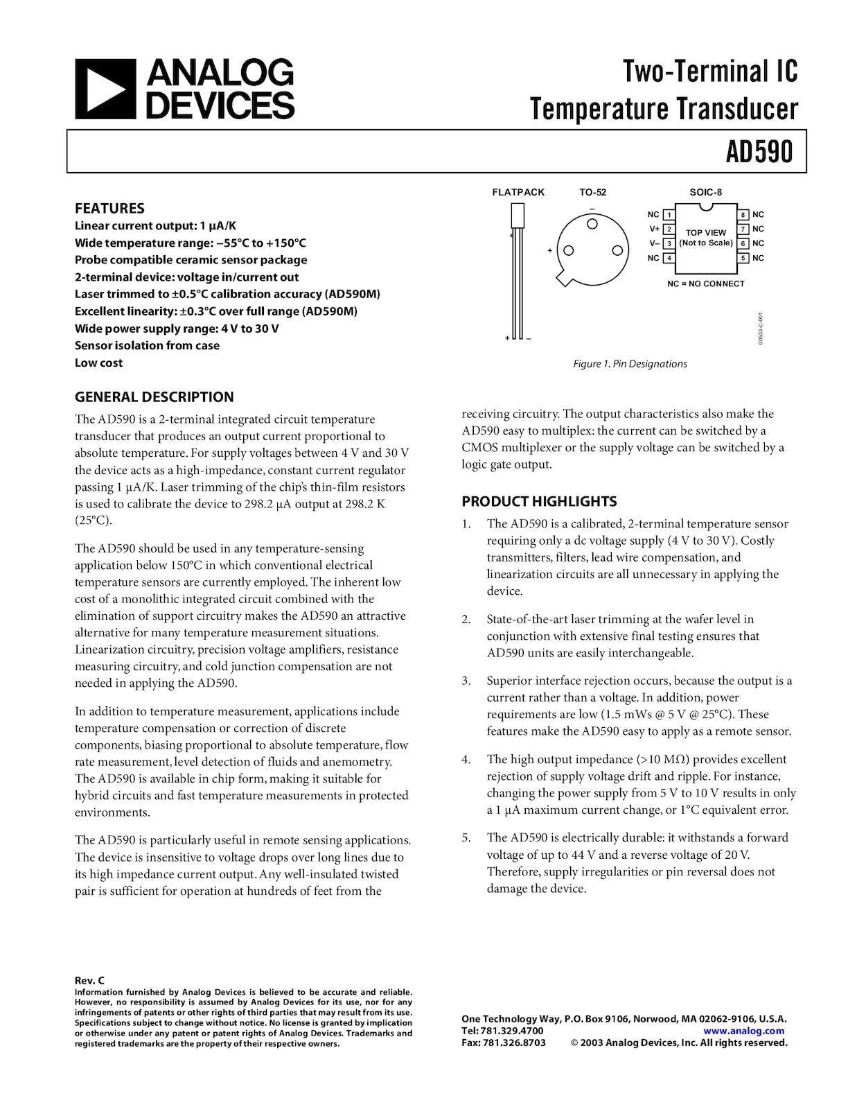Calamo Trasduttore Di Temperatura Figure 3 Temperature Sensor Schematic