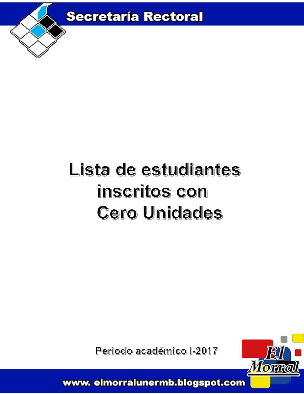 Lista Cero Unidades I- 2017