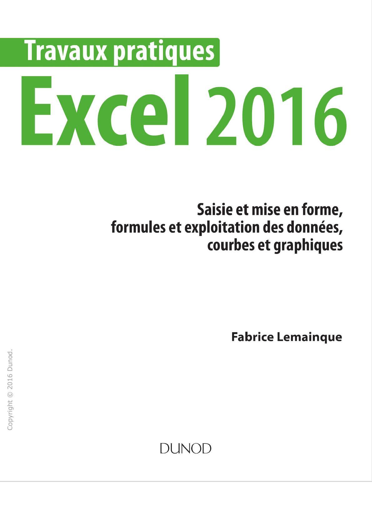 Travaux Pratiques Avec Excel 2016