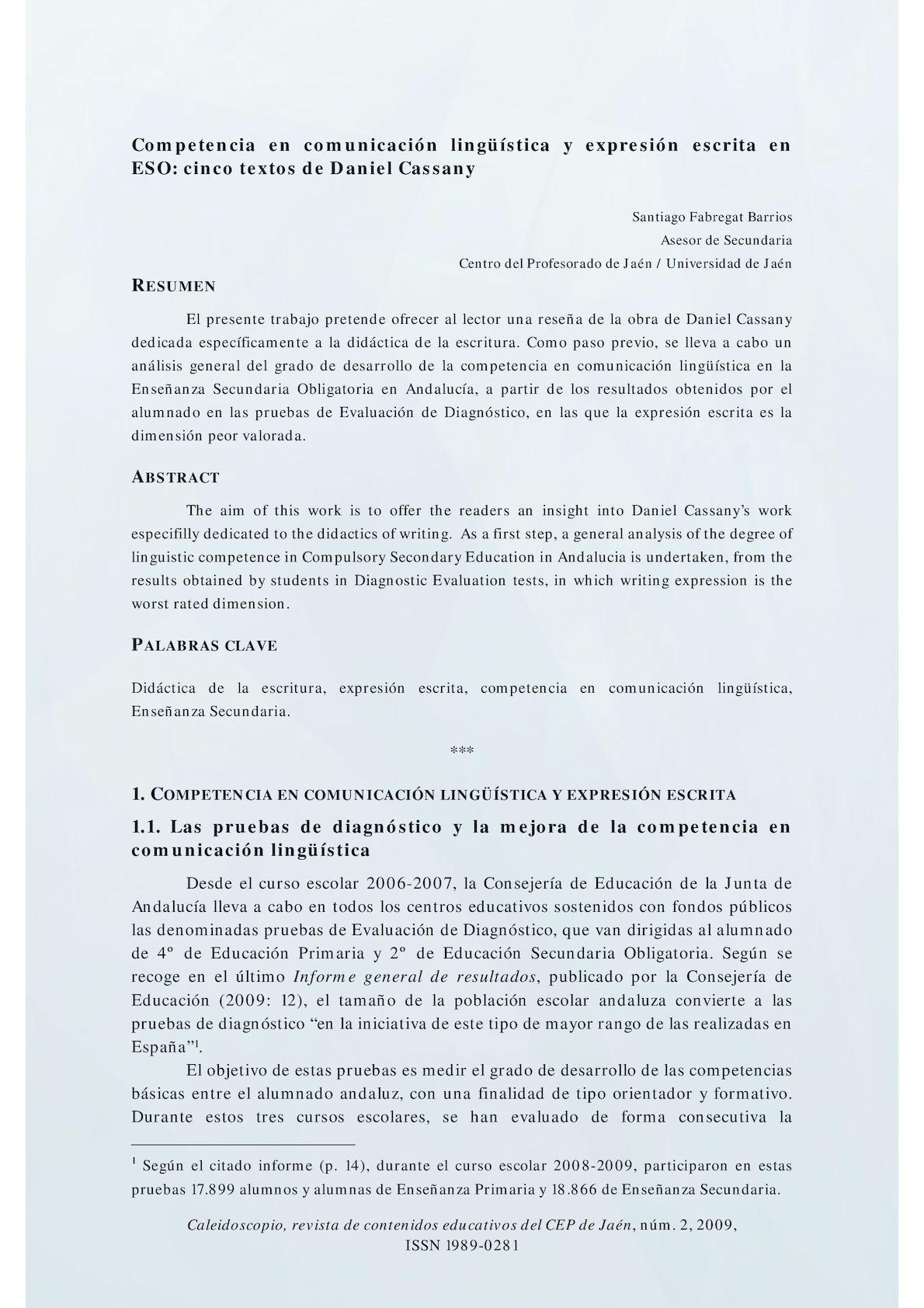 Calaméo - Dialnet Competencia Linguistica Yexpresion Escrita En Eso ...