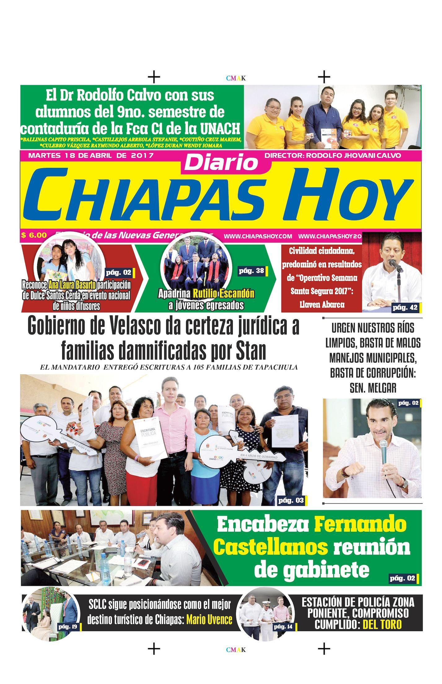CHIAPAS HOY 18 DE ABRIL