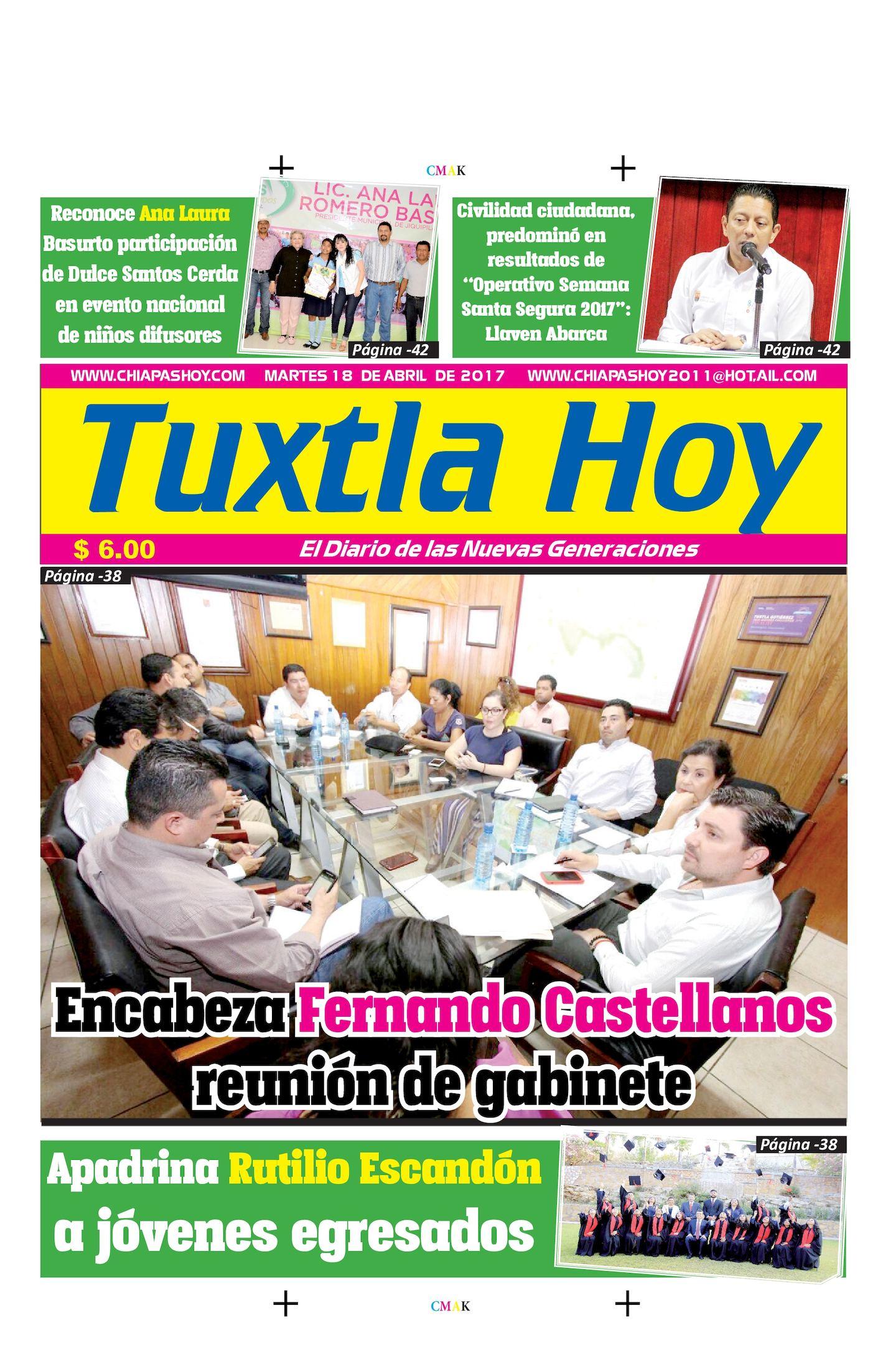 TUXTLA HOY 18 DE ABRIL